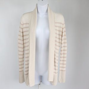 Banana Republic Sweaters - Banana Republic cream tan sheer stripe cardigan
